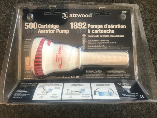 Attwood Aerator Pump 500GPH
