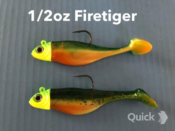 1/2oz Firetiger Swimbaits 2 pack