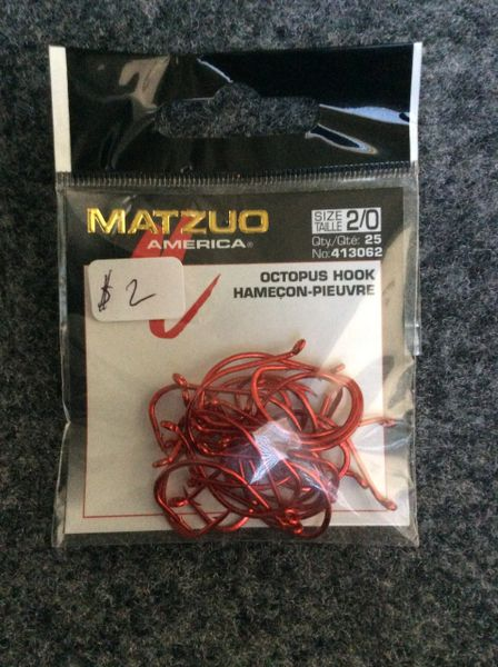 MATZUO Octopus Hook 2/0 Red