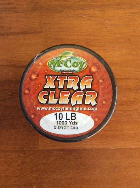 McCoy XTRA CLEAR 1000yd Bulk spool