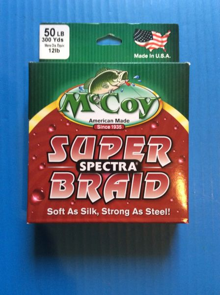 "McCoy Spectra Super Braid 300 yrd spool ""Mean Green"""
