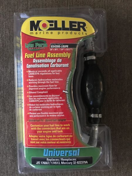 Moeller 5/16 or 3/8 7' universal fuel line assembly