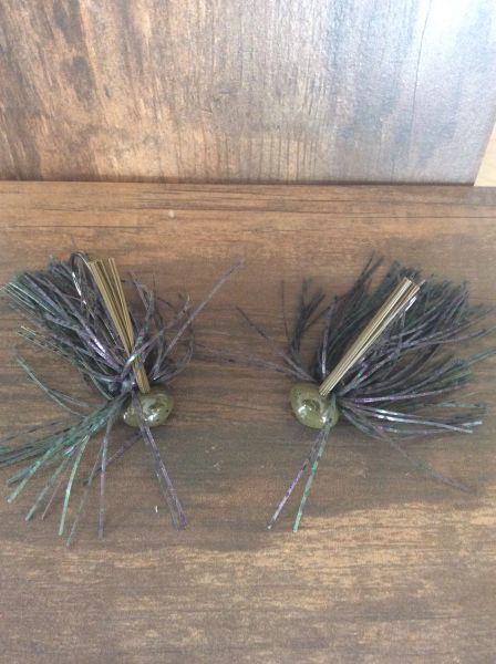 Watermelon Candy Weedless Football Jig 2 pack