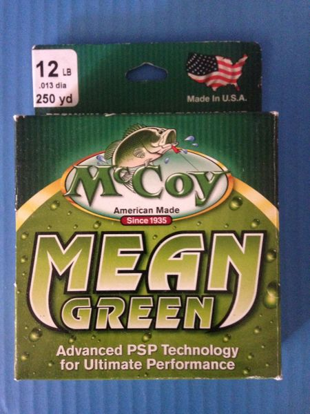 McCoy Mean Green Premium Co-Polymer Fishing Line 250yd Spool