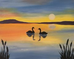 "ON SALE! ""Sunset Swans"" Thurs - May 23 