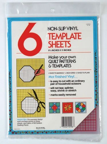 6 quilting template plastic sheets by collins w 198