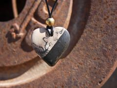 Horse Hair Heart with Brass Bead