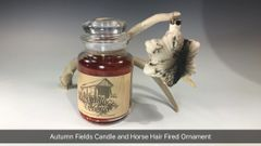 Autumn Fields Candle and Horse Hair Fired Ornament