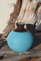 Turquoise and Copper XL Seed Pot
