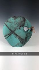 Large Teal with Copper Accents