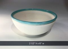 Turquoise rimmed bowl #2