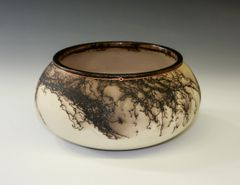 Horse Hair Copper Trimmed Bowl