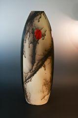 Horse Hair Vase - Red Sun