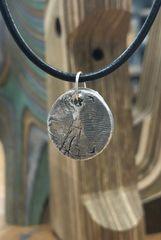 Silver Finger Print Necklace.