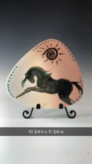 Triangle Plate and Horse