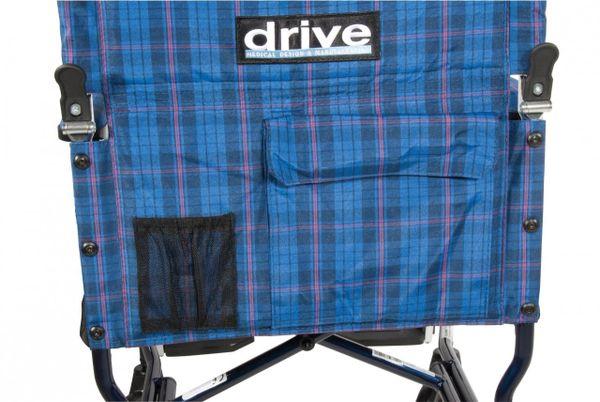 Fly Lite Ultra Lightweight Blue Transport Wheelchair - dfl19-bl
