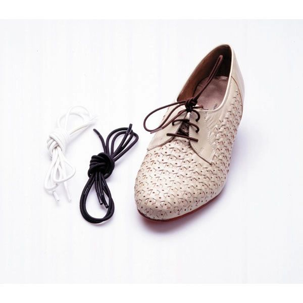 White Elastic Shoe and Sneaker Laces - rtl2052