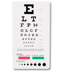 Snellen Pocket Eye Chart