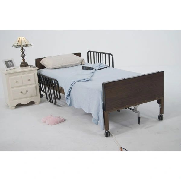 Delta Ultra Light Full Electric Bed with Half Rails - 15033bv-hr
