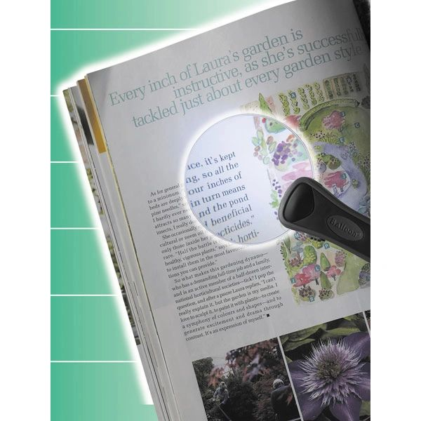 Glass Magnifier Reading Lens with LED Light - rtl1162