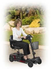 Phoenix 4 Wheel Compact Portable Travel Power Scooter - s35015