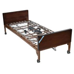 Delta Ultra Light Full Electric Bed with Half Rails and Innerspring Mattress - 15033bv-pkg-1