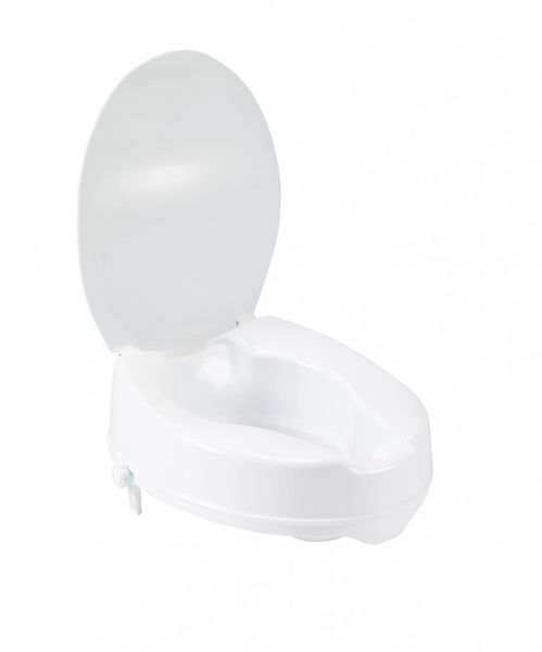 Raised Toilet Seat with Lock and Lid - 12063