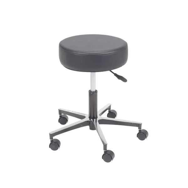 Padded Seat Revolving Pneumatic Adjustable Height Stool with Metal Base - 13078