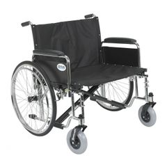 Sentra EC Heavy Duty Extra Wide Wheelchair with Detachable Full Arms - std30ecdfa