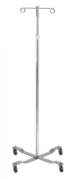 Economy Removable Top Chrome I. V. Pole - 13033