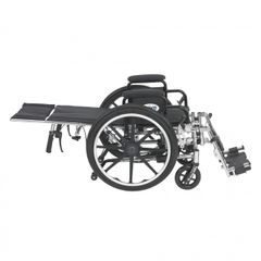 Viper Plus Light Weight Reclining Wheelchair with Elevating Leg rest and Flip Back Detachable Desk Arms - pl412rbdda
