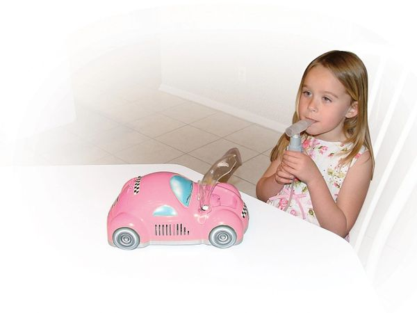 Pink Piston Powered Checker Nebulizer - 18040-p