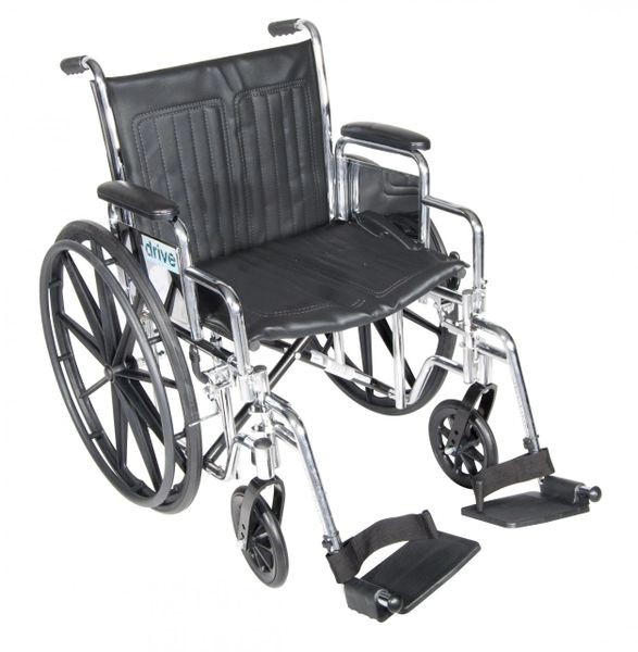 Chrome Sport Wheelchair with Detachable Desk Arms and Swing Away Footrest - cs18dda-sf