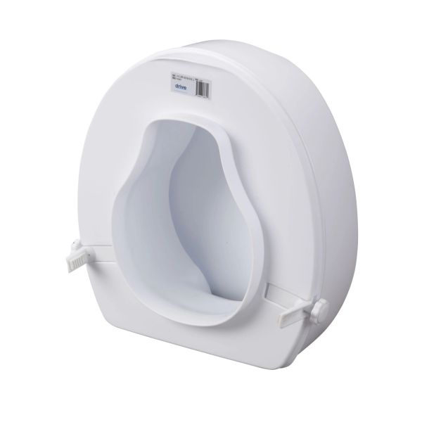 Raised Toilet Seat with Lock and Lid - 12067