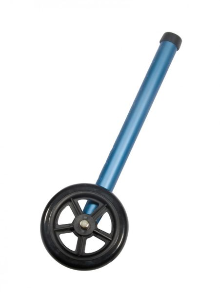 "5"" Blue Walker Wheels with Two Sets of Rear Glides for Use with Universal Walker - 10128bl"