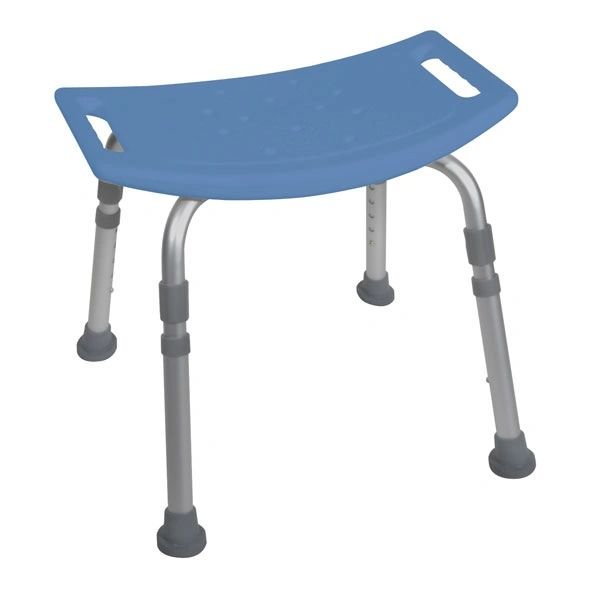Blue Bath Bench without Back - 12203kdrb-1