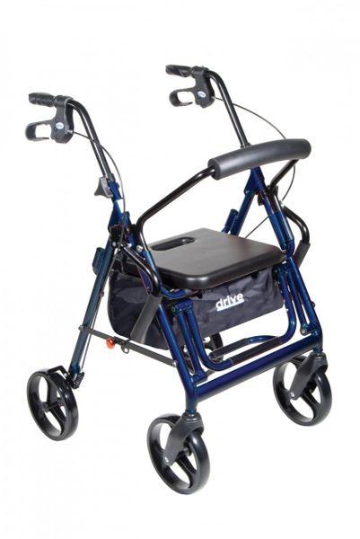 Duet Blue Transport Wheelchair Rollator Walker - 795b