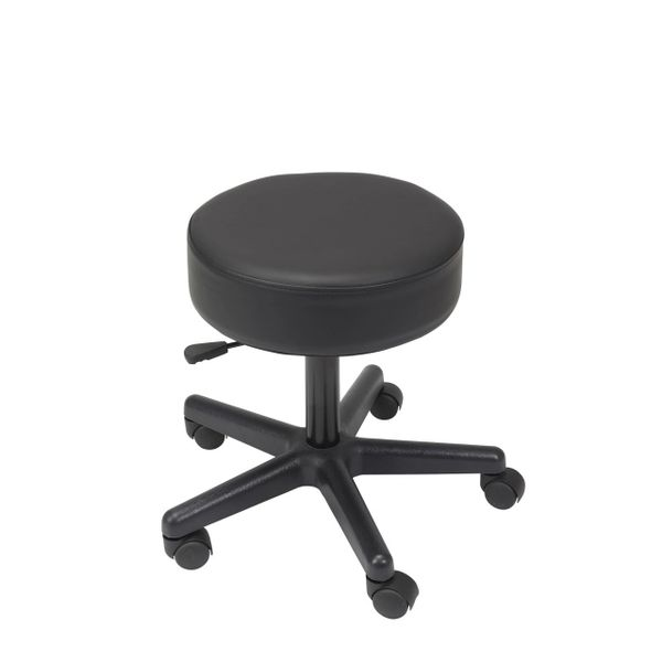 Padded Seat Revolving Pneumatic Adjustable Height Stool with Plastic Base - 13079