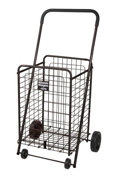 Black Winnie Wagon All Purpose Shopping Utility Cart - 605b