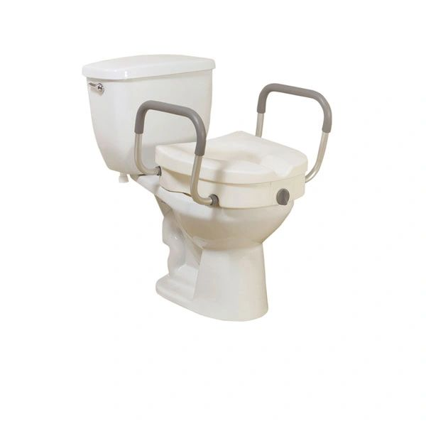 Raised Toilet Seat with Removable Padded Arms - 12008kdr