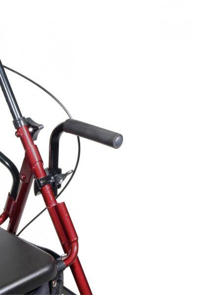 Duet Burgundy Transport Wheelchair Rollator Walker - 795bu