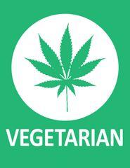 282. Marijuana Leaf Vegetarian T-Shirt