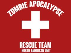133. Zombie Apocalypse Rescue Team T-Shirt