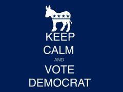 234. Keep Calm Vote Democrat T-Shirt