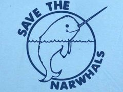 008. Save The Narwhales T-Shirt