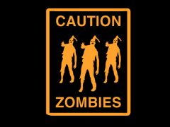 073. Caution Zombies T-Shirt
