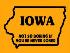 163. Iowa Not So Boring If You're Never Sober T-Shirt