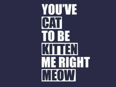 129. You've Cat To Be Kitten Me Right Meow T-Shirt