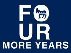 174. Democrat four more years T-Shirt