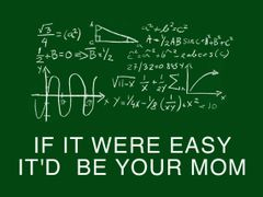 176. If It Were Easy It'd Be Your Mom T-Shirt
